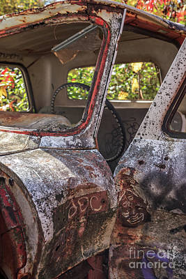 Abandoned Car Photograph - Abandoned Old Truck Newport New Hampshire by Edward Fielding