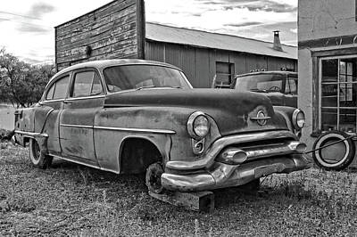 Photograph - Abandoned Oldsmobile Bw by David King