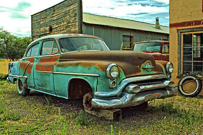 Photograph - Abandoned Oldsmobile by David King