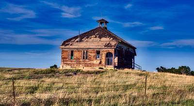 Photograph - Abandoned One Room Schoolhouse by L O C