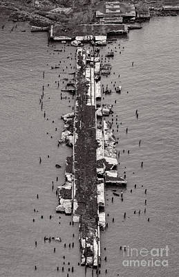 Slip Away Photograph - Abandoned Pier by David Oppenheimer