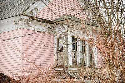 Photograph - Abandoned Pink House by Alana Ranney
