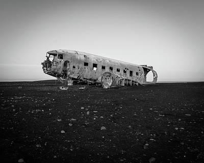 Abandoned Plane On Beach Art Print