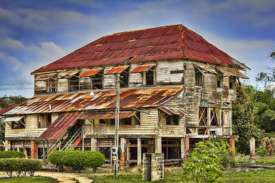 Photograph - Abandoned Plantation Building by Nadia Sanowar