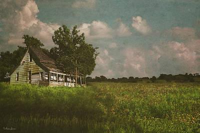 Digital Art - Abandoned Prairie Farm House by Anna Louise