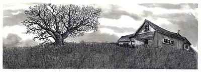 Abandoned Prairie Farmhouse Art Print