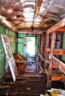 Photograph - Abandoned Rail Car 003 by George Bostian