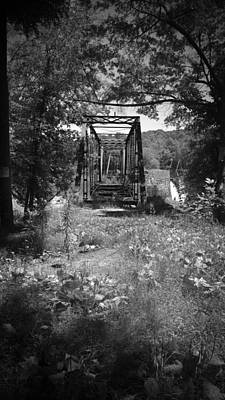 Bear Photography Rights Managed Images - Abandoned Rail Road Trestle Bridge in Black and White Royalty-Free Image by Kelly Hazel