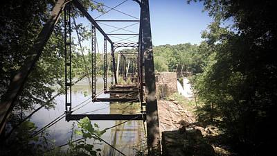 Photograph - Abandoned Rail Road Trestle Bridge In Color by Kelly Hazel
