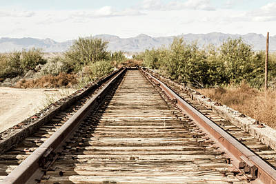 Photograph - Abandoned Rail Tracks by SR Green