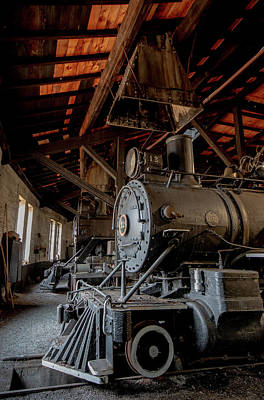 Photograph - Abandoned Railroad Steam Engine by Jim Cheney
