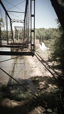 Photograph - Abandoned Railroad Trestle Bridge Study In Perspective II by Kelly Hazel