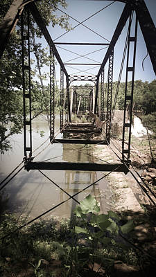 Photograph - Abandoned Railroad Trestle Bridge Study In Perspective by Kelly Hazel