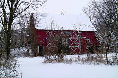 Photograph - Abandoned Red Barn by Scott Kingery
