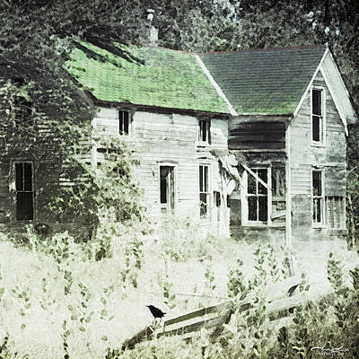Digital Art - Abandoned Rural House by Anna Louise