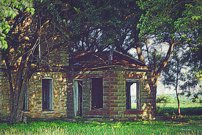 Photograph - Abandoned Rural Stone House  by Anna Louise