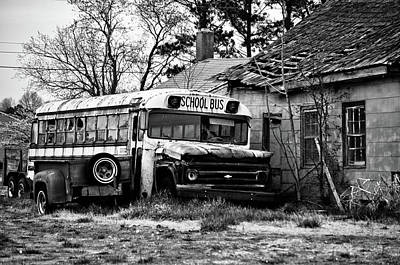 Mixed Media - Abandoned School Bus by Trish Tritz