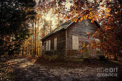 Photograph - Abandoned Schoolhouse by Debra Fedchin