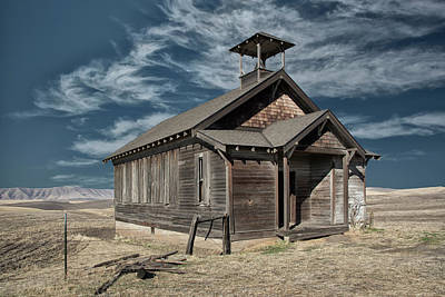 Photograph - Hilltop Schoolhouse by Gej Jones