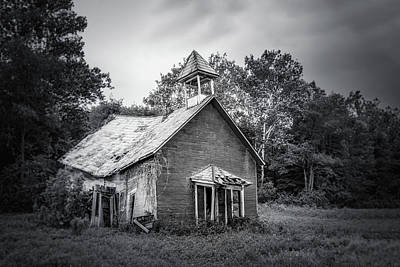 Rural Decay Photograph - Abandoned Schoolhouse by Tom Mc Nemar