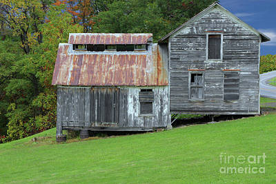 Abandoned Shack By The Road Art Print