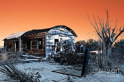 Photograph - Abandoned Shack Pop Art by John Rizzuto