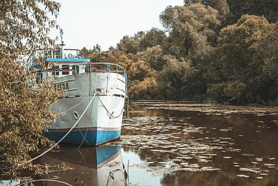Photograph - Abandoned ship by Daria Klepikova
