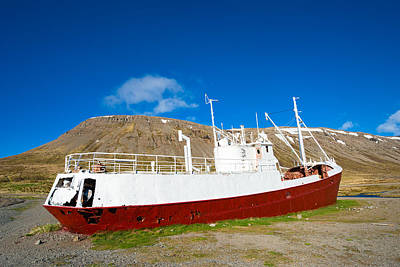 Photograph - Abandoned Shipwreck Gardar Ba64 In Iceland by Matthias Hauser
