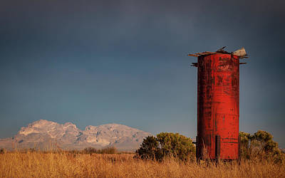 Photograph - Abandoned Silo by David Cote