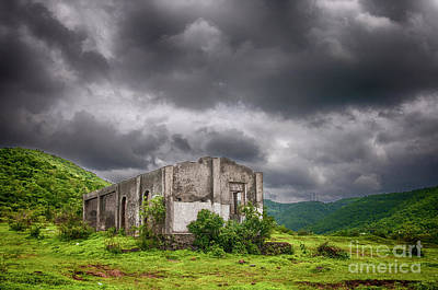 Abandoned Structures Photograph - Abandoned Site by Charuhas Images
