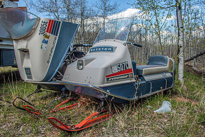 Photograph - Abandoned Snowmobiles by Tony Baca