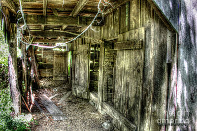 Dilapidated Barn Digital Art - Abandoned Stable by Dan Stone