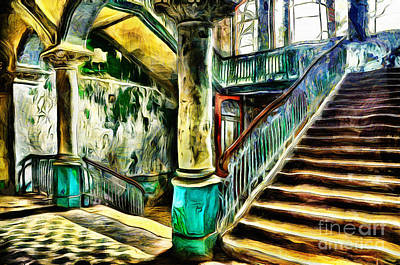 Painting - Abandoned Stairs by Milan Karadzic