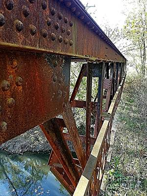Abandoned Steel Bridge Nashville Indiana Art Print