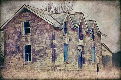 Photograph - Abandoned Stone House by Anna Louise