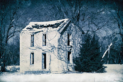 Photograph - Abandoned Stone House In Snow by Anna Louise