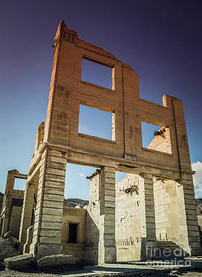 Photograph - Abandoned Structure Rhyolite Ghost Town by Blake Webster