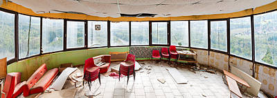 Abandoned Tower Restaurant - Urban Panorama Art Print