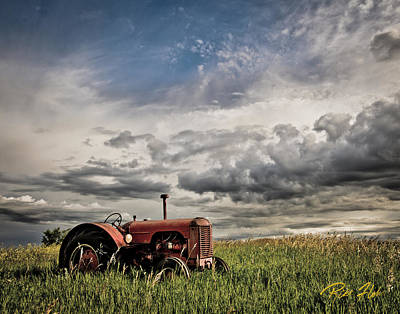 Photograph - Abandoned Tractor by Rikk Flohr