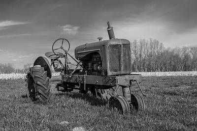 William Morris Photograph - Abandoned Tractor by William Morris