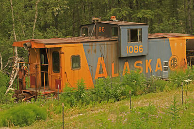 Photograph - Abandoned Train Caboose In Alaska by Ronald Olivier