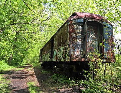 Photograph - Abandoned Train Car by Elsa Marie Santoro