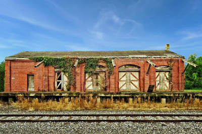 Photograph - Abandoned Train Freight Station  -  12lititzfreightstation2345 by Frank J Benz
