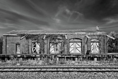 Photograph - Abandoned Train Freight Station  -  12stationbwvig2345 by Frank J Benz