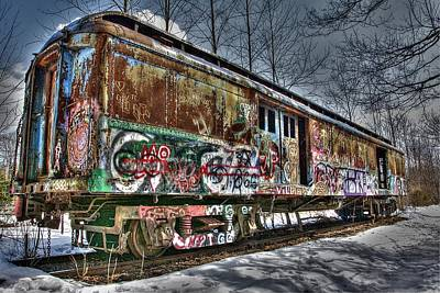 Photograph - Abandoned Train by Lucia Vicari
