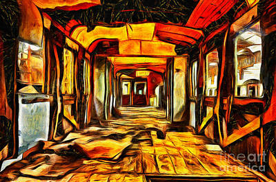 Mixed Media - Abandoned Train by Milan Karadzic