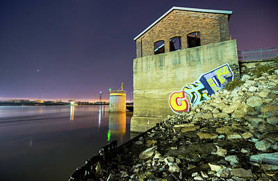 Photograph - Abandoned Train Station On The Mississippi River - Saint Louis Missouri by Gregory Ballos