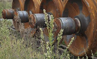 Photograph - Abandoned Train Wheels by Michael Rutland
