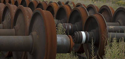 Photograph - Abandoned Train Wheels Two by Michael Rutland