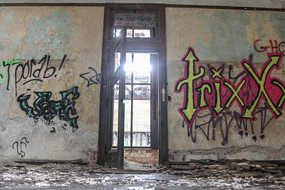 Detroit Abandoned Buildings Photograph - Abandoned Trixx  by John McGraw